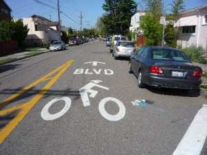 How they do sharrows in Berkeley