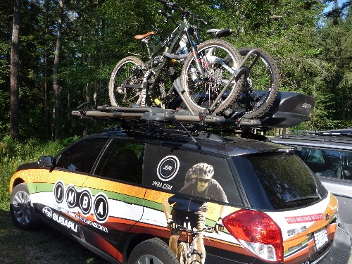 IMBA's trail Subaru...you can't miss it!