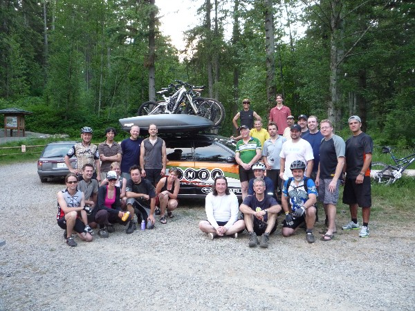 Paradise found... Evergreen gang at the trailhead