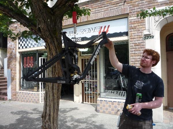 Adam weighs my Firebird outside the Zone: 7.62 lbs